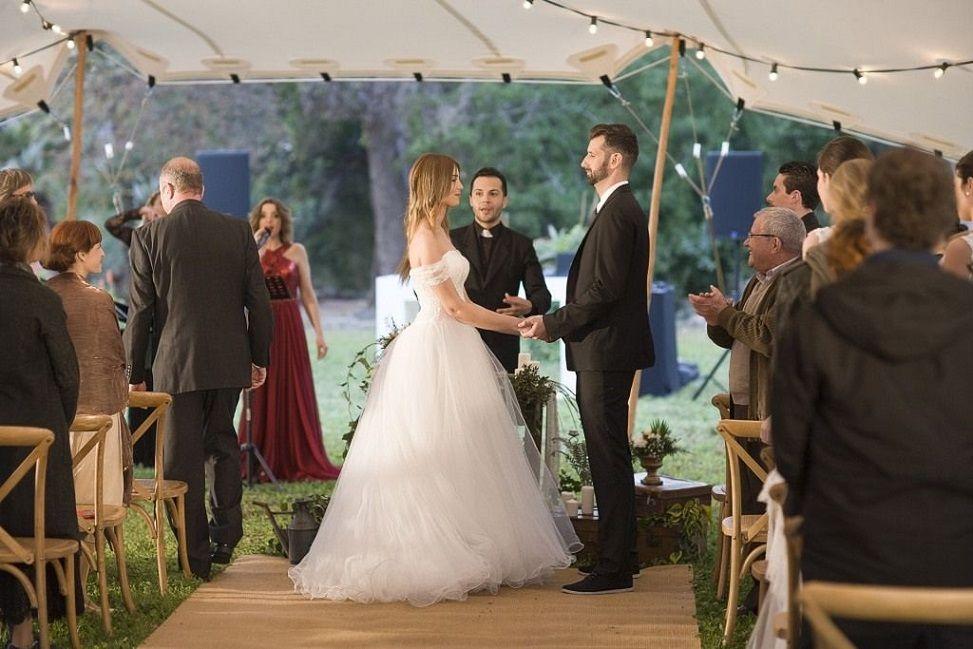 Imagen de la producción del video de boda.